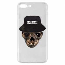 Чехол для iPhone 8 Plus Skull in hat and text