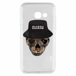 Чехол для Samsung A3 2017 Skull in hat and text