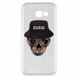 Чехол для Samsung A5 2017 Skull in hat and text