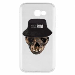 Чехол для Samsung A7 2017 Skull in hat and text