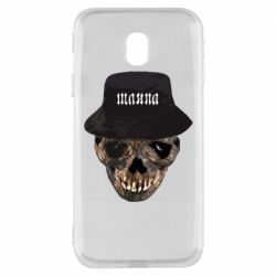 Чехол для Samsung J3 2017 Skull in hat and text