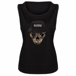 Майка жіноча Skull in hat and text