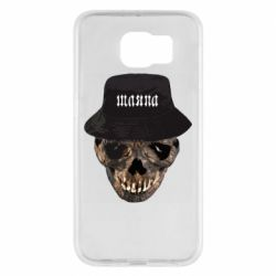 Чехол для Samsung S6 Skull in hat and text