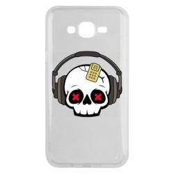 Чохол для Samsung J7 2015 Skull in headphones 1