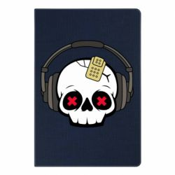 Блокнот А5 Skull in headphones 1