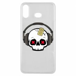 Чохол для Samsung A6s Skull in headphones 1