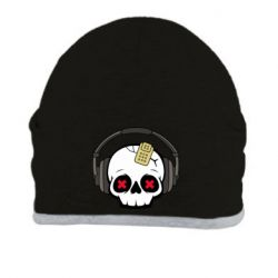 Шапка Skull in headphones 1