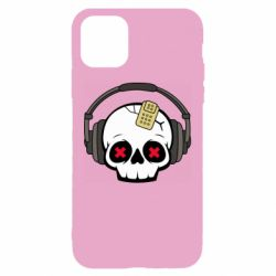 Чохол для iPhone 11 Skull in headphones 1