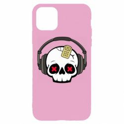 Чохол для iPhone 11 Pro Skull in headphones 1
