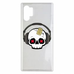 Чохол для Samsung Note 10 Plus Skull in headphones 1