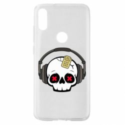 Чехол для Xiaomi Mi Play Skull in headphones 1