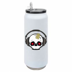 Термобанка 500ml Skull in headphones 1