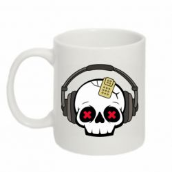 Кружка 320ml Skull in headphones 1