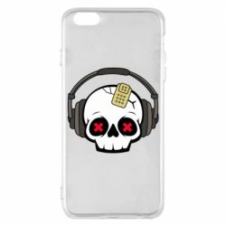 Чохол для iPhone 6 Plus/6S Plus Skull in headphones 1