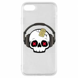 Чохол для iPhone 7 Skull in headphones 1