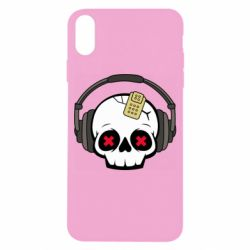 Чохол для iPhone X/Xs Skull in headphones 1