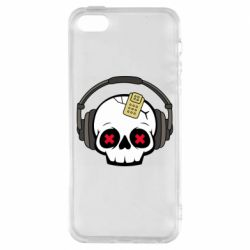 Чохол для iphone 5/5S/SE Skull in headphones 1