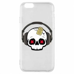 Чохол для iPhone 6/6S Skull in headphones 1