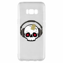 Чохол для Samsung S8+ Skull in headphones 1