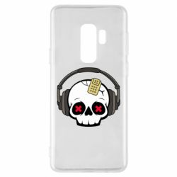 Чохол для Samsung S9+ Skull in headphones 1