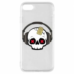 Чохол для iPhone 8 Skull in headphones 1