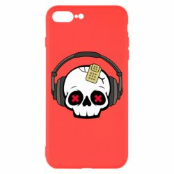 Чохол для iPhone 8 Plus Skull in headphones 1