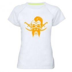 Женская спортивная футболка Skull of a Cossack