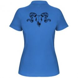 Женская футболка поло Skull of a ram