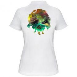 Жіноча футболка поло Skull of a sea of thieves