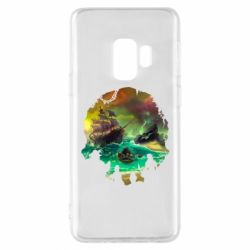 Чехол для Samsung S9 Skull of a sea of thieves