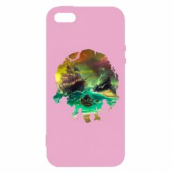 Чехол для iPhone5/5S/SE Skull of a sea of thieves