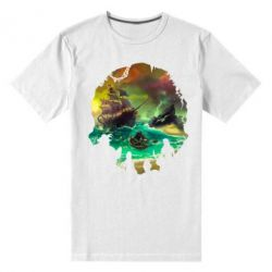 Чоловіча стрейчева футболка Skull of a sea of thieves