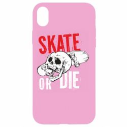 Чохол для iPhone XR skull Skate or die