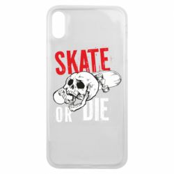 Чохол для iPhone Xs Max skull Skate or die
