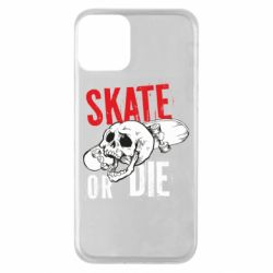 Чохол для iPhone 11 skull Skate or die