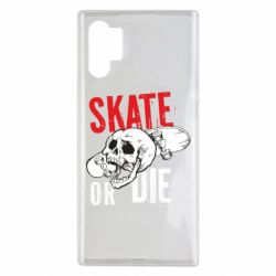 Чохол для Samsung Note 10 Plus skull Skate or die