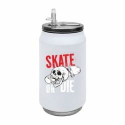 Термобанка 350ml skull Skate or die