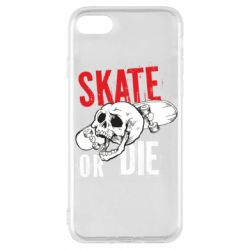 Чохол для iPhone 7 skull Skate or die