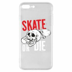 Чохол для iPhone 7 Plus skull Skate or die
