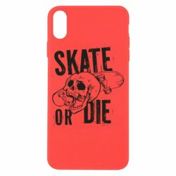 Чохол для iPhone X/Xs skull Skate or die