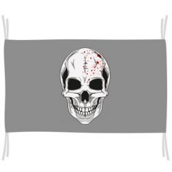 Прапор Skull with blood splatters