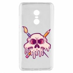 Чехол для Xiaomi Redmi Note 4 Skull with brush and pencil