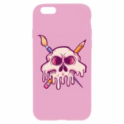 Чохол для iPhone 6 Plus/6S Plus Skull with brush and pencil
