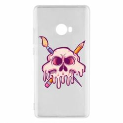 Чехол для Xiaomi Mi Note 2 Skull with brush and pencil