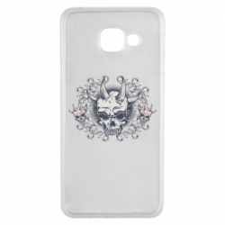 Чохол для Samsung A3 2016 Skull with horns and patterns