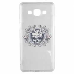 Чохол для Samsung A5 2015 Skull with horns and patterns