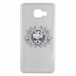 Чохол для Samsung A7 2016 Skull with horns and patterns