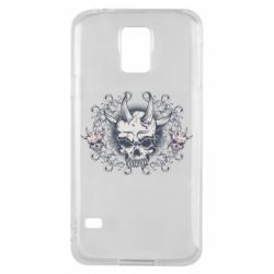 Чохол для Samsung S5 Skull with horns and patterns