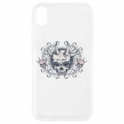 Чохол для iPhone XR Skull with horns and patterns