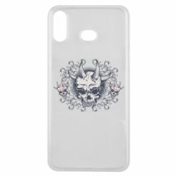 Чохол для Samsung A6s Skull with horns and patterns